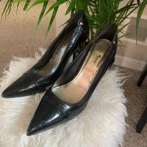 Anne Michelle Black patent leather heels